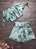 Подростковый костюм топ+шорты для девочки 8-12 лет,цвет уточняйте при заказе, фото 1
