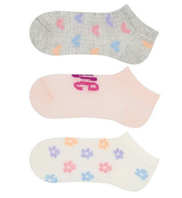 Набір 3 шт. Шкарпетки для немовлят укорочені Bross з малюнком сердечка