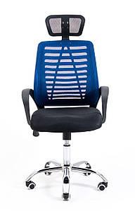 Компьютерное кресло Richman Бласт сетчатое синее с подголовником