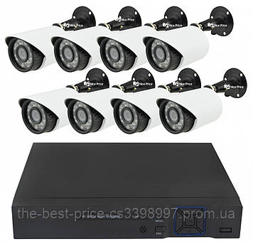 Комплект видеонаблюдения Melad на 8 камер 2 mp Full HD KIT