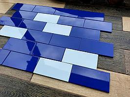 Плитка облицювальна керамогранітна для басейнів Life BL 95х190 синя, блакитна