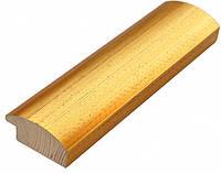 Багет дерев'яний золотий в крапочку