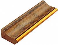 Багет дерев'яний коричневий в плямах