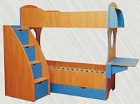 "Двухъярусная кровать ""Романтика"" без лестницы, фото 1"