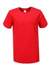 Червона однотонна футболка для хлопчика