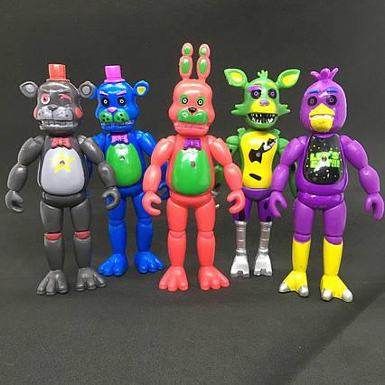 Набір фігурок Кошмарні аніматроніки з гри П'ять Ночей у Фредді 5в1 ФНаФ 14 див. Five Nights at Freddys FNaF