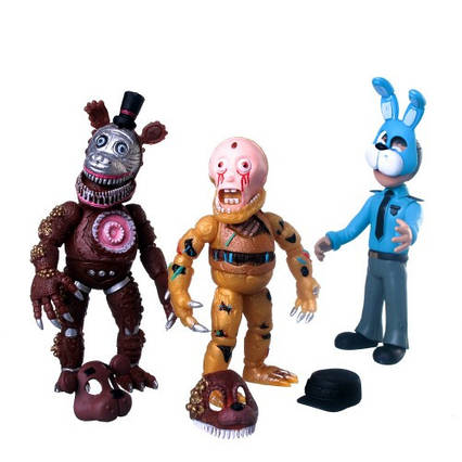 Іграшка П'ять ночей в Фредді. Набір фігурки з Фредді 3 фігурки в наборі. Аніматроніки ФНаФ FNaF