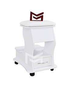 Подставка-пуф для педикюра с ящичком педикюрная подставка для ног педикюрного кресла передвижная М_217