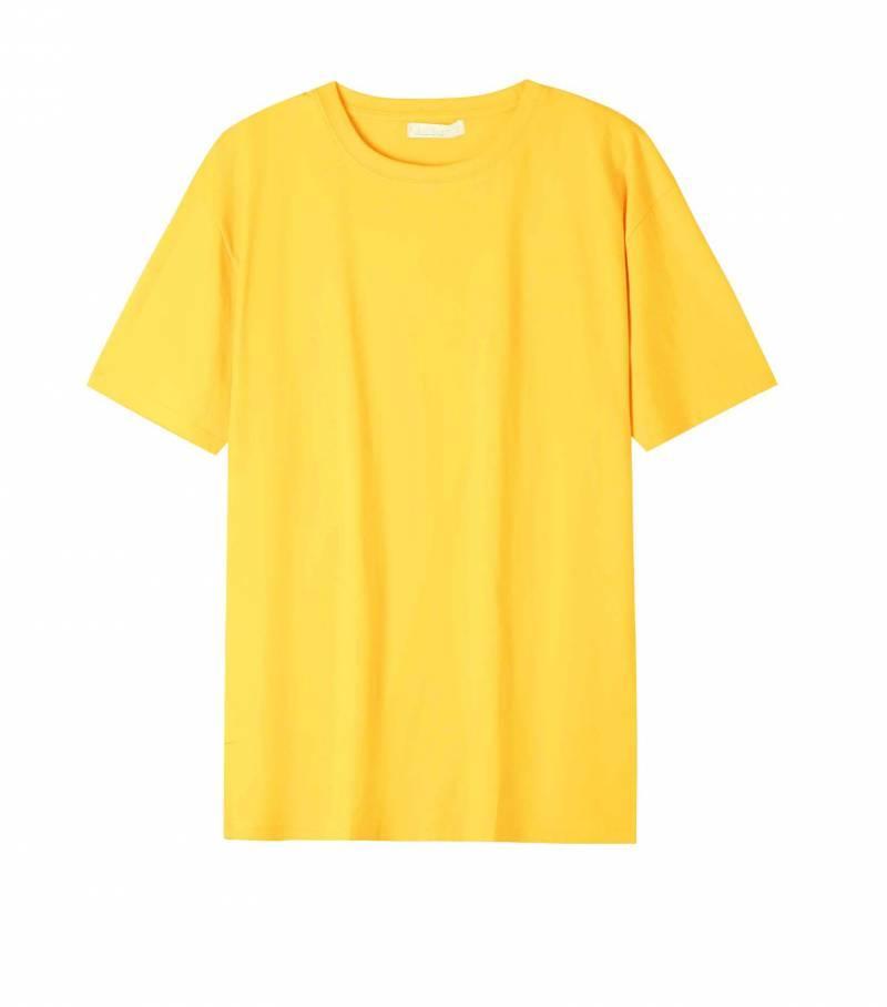Однотонна жовта футболка для хлопчика