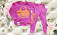 Детский костюм туника и лосины Барби для девочки размеры 28е