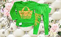 Детский костюм туника и лосины Барби для девочки размер 28
