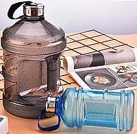 Большая пластиковая спортивная бутылка для воды, Фитнес бутылка с ручкой на 3,7л (3700 мл)