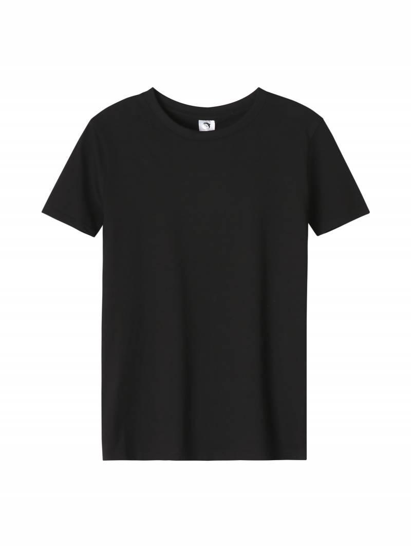 Однотонна чорна футболка для хлопчика