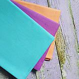 Комплект однотонной ткани для рукоделия из 3 шт., фото 2
