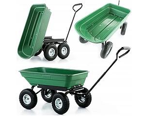 Садовий прицеп тележка 200 кг. тачка садовый инвентарь до трактора ATV