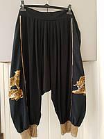 Костюм размера плюс для лета из качественной трикотажной ткани с отделкой из желтой сетки Kaprizz