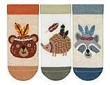 Набор 3 шт. Носочки для грудничков укороченные Bross с рисунком, фото 5