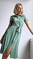 Женское летнее платье в мелкий горох новинка 2021