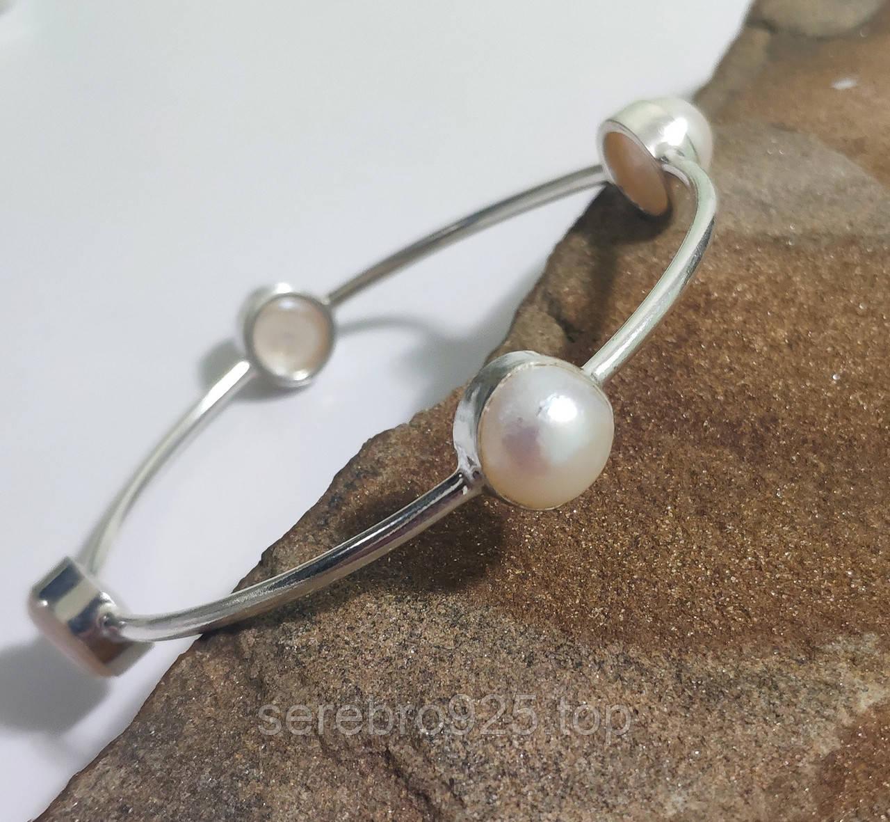 Браслет з натуральними перлами