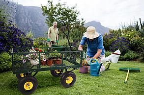 Садовий прицеп тележка 400кг. тачка садовый инвентарь до трактора ATV