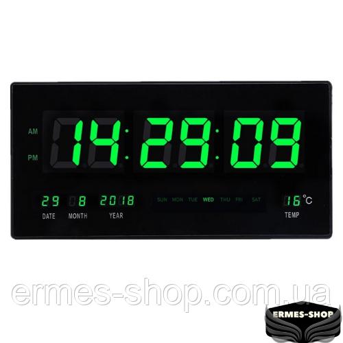 Настенные часы Led с подсветкой CX-4622 | Зеленые