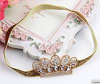 Нарядная повязка для девочки на голову Корона