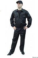Костюм охранника черный, куртка и брюки для охраны