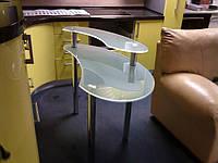 Стеклянный компьютерный стол Киев