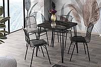Стол SABIT masa (70*70 см) корпус - металл, столешница - шпон ДСП, Mobilgen, Турция