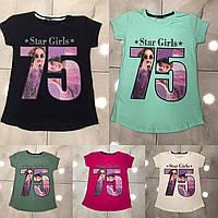 Підліткова футболка #75 для дівчаток 7-14 років,колір уточнюйте при замовленні, фото 1