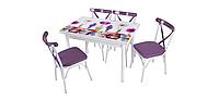 """Комплект кухонной мебели стол и 4 стула """"Papanya"""" Mobilgen, Турция (столешница МДФ каленное стекло)"""