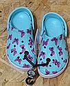 Аквашузы Crocs Bayaband clog для девочки с бабочками  кроксы  Крокс  размер  С9 15.5-16 см, фото 6