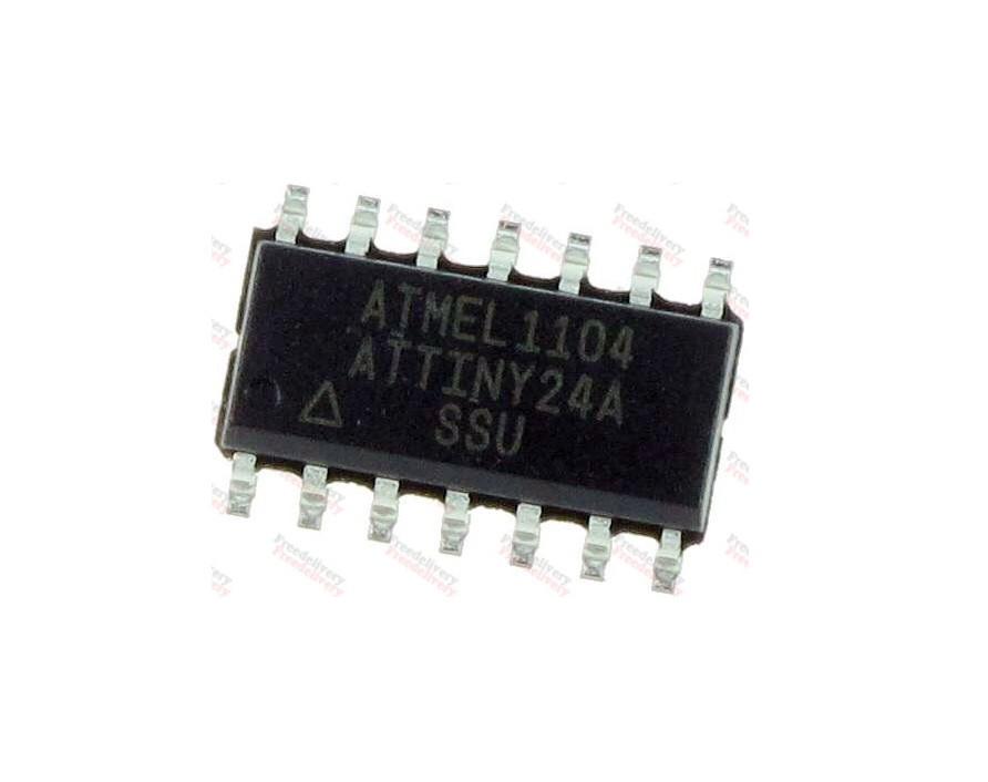 Чип ATTINY24A-SSU SOP14, Микроконтроллер AVR