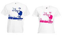 """Парная футболка """"Саша+Маша"""""""