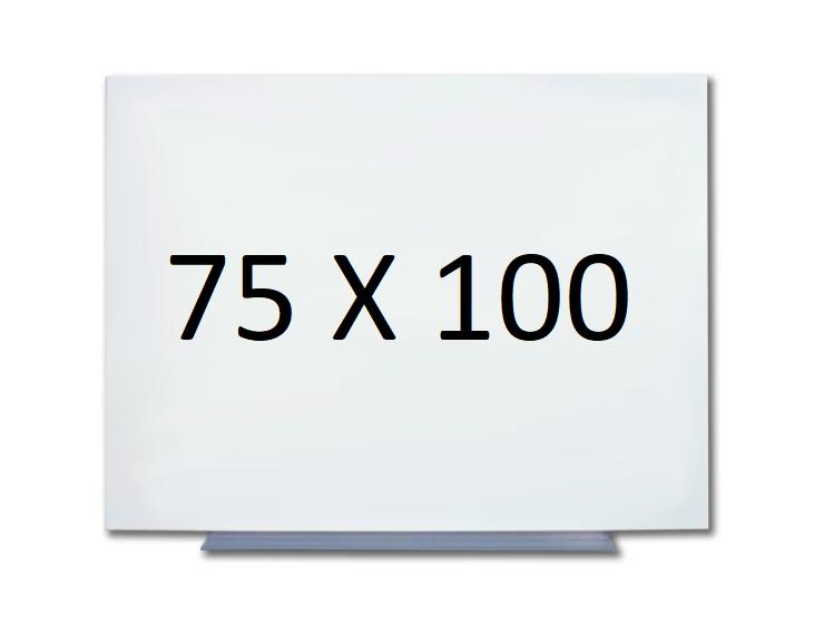 Безрамная магнитная доска для маркера 75 х 100 см. Белая маркерная доска для рисования маркером. Tetris