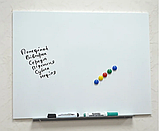 Безрамная магнитная доска для маркера 75 х 100 см. Белая маркерная доска для рисования маркером. Tetris, фото 2