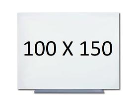 Безрамная магнитная доска для маркера 100 х 150 см. Белая маркерная доска для рисования маркером. Tetris