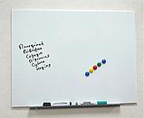 Безрамная магнитная доска для маркера 100 х 150 см. Белая маркерная доска для рисования маркером. Tetris, фото 2