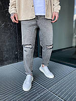 Мужские стильные качественные джинсы МОМ (серые). Турецкие мужские джинсы