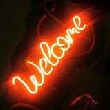 Неоновая надпись «Welcome», фото 4