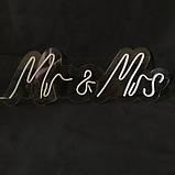 Неонова вивіска Mr & Mrs, фото 2