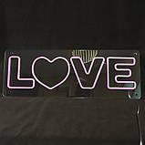 """Неоновая надпись """"Love"""", фото 2"""