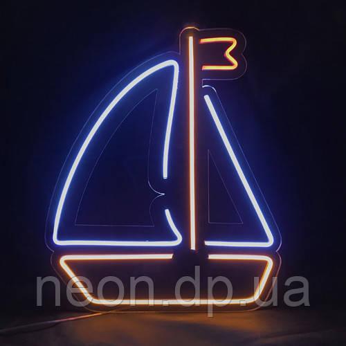 """Неоновая вывеска  """"Кораблик"""""""