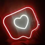 """Світлодіодне неонове """"Серце"""", фото 2"""