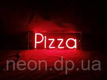 Напис Піца з холодного неону