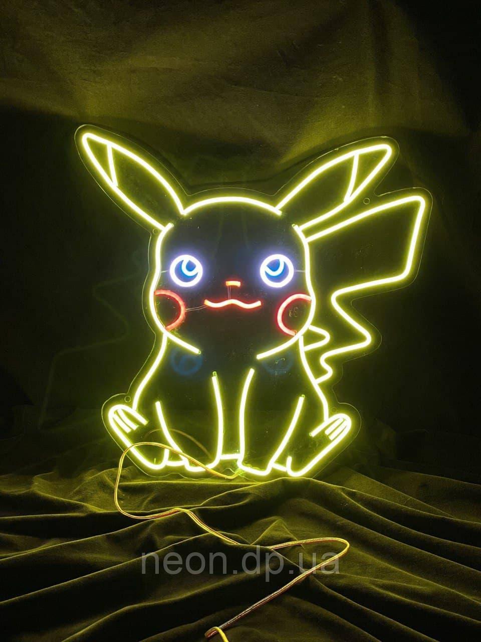 """Неонова вивіска """"Pikachu"""""""