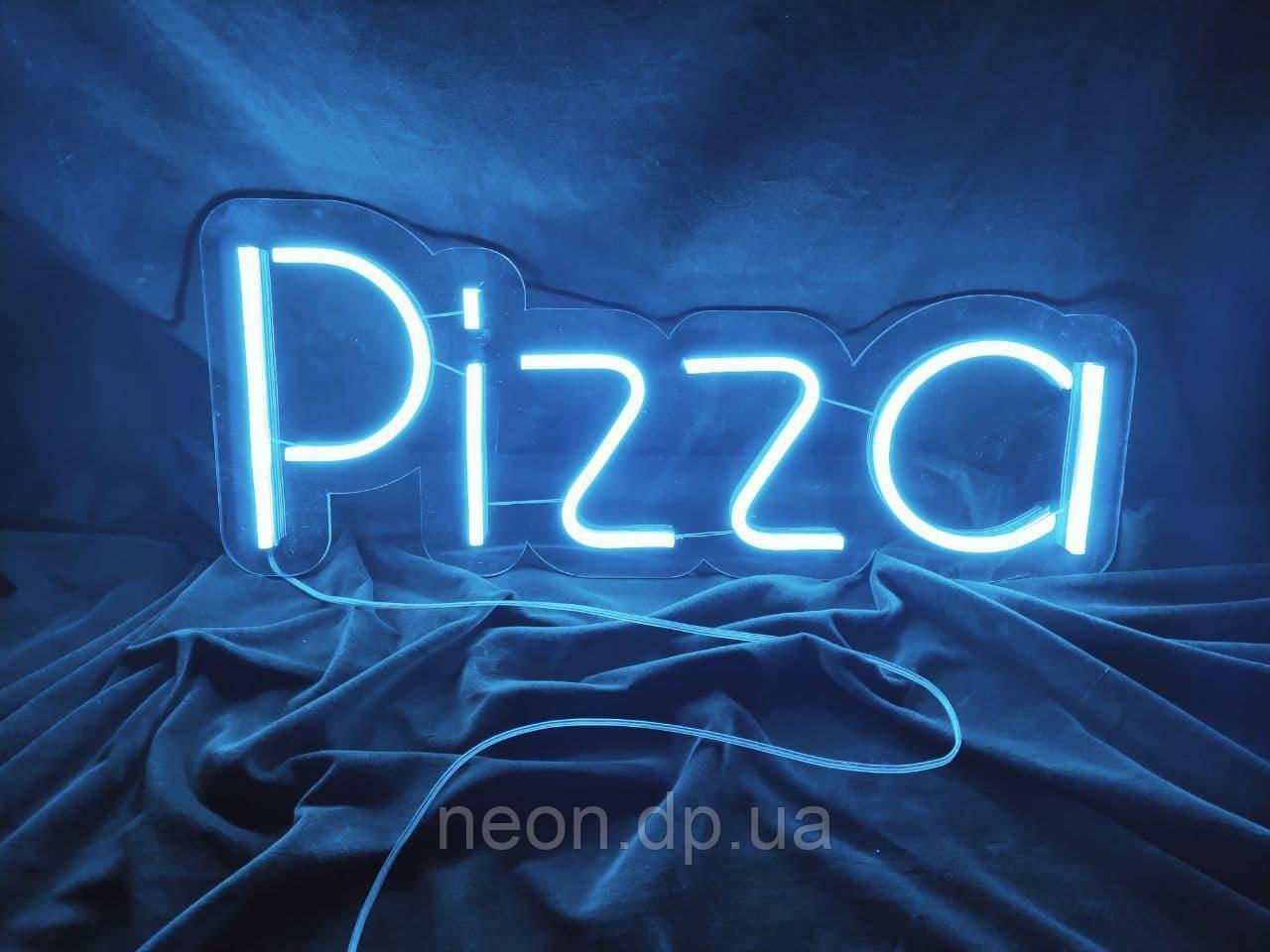 """Неоновая вывеска """"Pizza"""""""