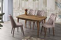Комплект обеденной мебели POLO Masa dis budak - 130*80 - стол + 4 стула Mobilgen, Турция