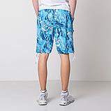 Мужские бриджи (плащевка), голубого цвета, фото 2