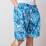 Мужские бриджи (плащевка), голубого цвета, фото 4